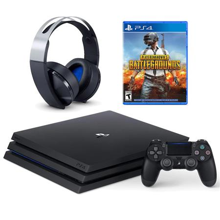 Sony PS4 Pro 1TB Console PlayerUnknown's Battleground Bundle, Platinum  Headset 696055227112