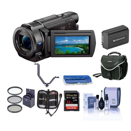 Sony FDR-AX33 4K Ultra HD Handycam Camcorder with Premium Accessory Bundle