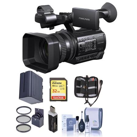 sony hxr nx100 professional compact camcorder with free accessory bundle hxr nx100 a. Black Bedroom Furniture Sets. Home Design Ideas