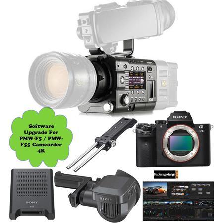 Sony PMW-F5 CineAlta 4K Digital Cinema Camcorder - Bundle with Alpha a7S II  Mirrorless Camera, DVFEL100 OLED Viewfinder, Sony USB 3 0 SxS Card Reader,