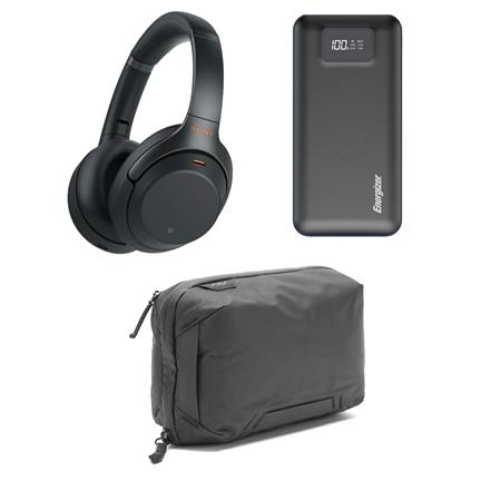 Sony WH-1000XM3 Wireless Noise-Canceling Over-The-Ear Headphones Black  W/ACC KIT