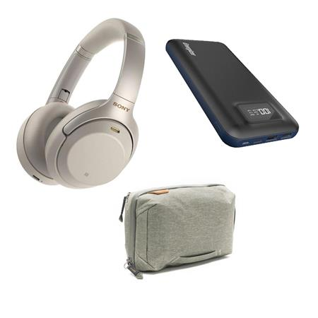 Sony WH-1000XM3 Wireless Noise-Canceling Over-The-Ear Headphone Silver  W/ACC KIT