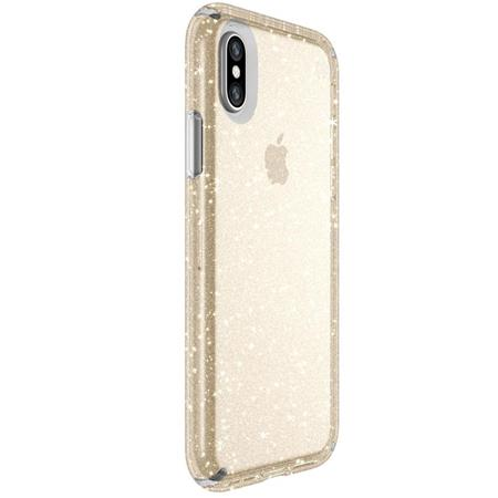 online store 22bf8 8d2e7 Speck Presidio Clear + Glitter Case for iPhone X - Clear with Gold  Glitter/Clear