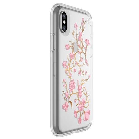 e3b413c8a0 Speck Presidio Clear Case + Print for iPhone X - Goldenblossoms Pink ...