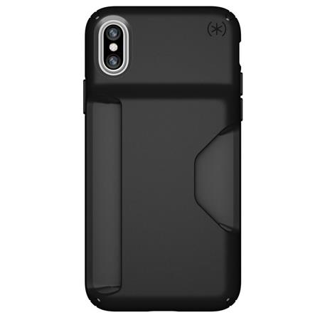 brand new d2490 98eeb Speck Presidio Wallet Case for iPhone X - Black/Black