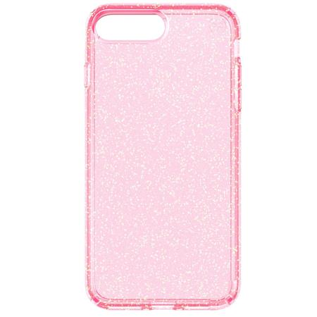 check out 82217 7b710 Speck Presidio Clear Case for iPhone 7 Plus, Rose Pink/Gold Glitter