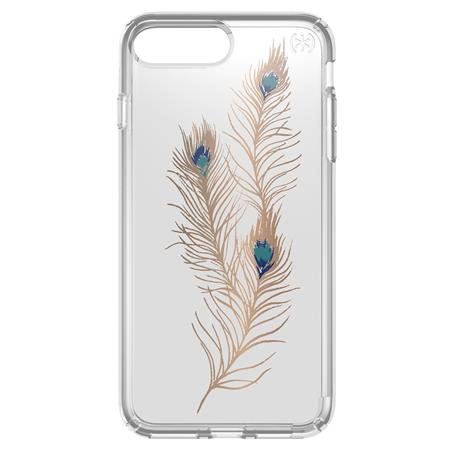 size 40 dc7b1 0339d Speck Presidio Print Case for iPhone 7 Plus, Showyfeather Gold/Clear