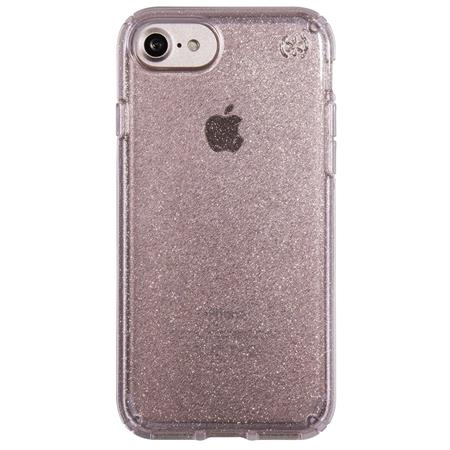f071caa841 Speck Presidio Clear Case for iPhone 7, Rose Pink/Gold Glitter 79989 ...