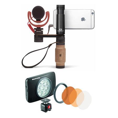en soldes f0508 4f472 Shoulderpod R2 Pocket Rig for Smartphones with Manfrotto Lumimuse 8  On-Camera LED Light