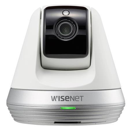 Samsung Wisenet SNH-V6410PNW SmartCam Digital Wireless Security Camera with  Night Vision, Pan/Tilt, White