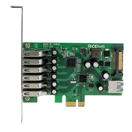 StarTech 7-Port Standard and Low-Profile Design PCI Express USB 3 0 Card