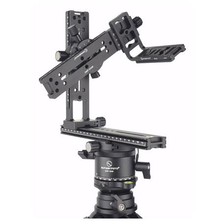 CAOMING Aluminum Alloy Panoramic Indexing Rotator Ball Head with Quick Release Plate for Camera Tripod Head Durable