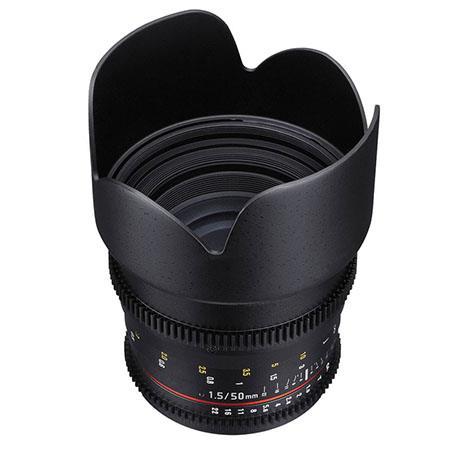 Samyang 50 mm T1.5 VDSLR Manual Focus Video Lens for Sony-E 7443 Black