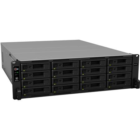 Synology RackStation RS2818RP+ 3U 16-Bay NAS Server, Quad-Core 2 1GHz, 4GB  RAM, No HDD