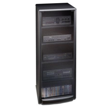Techcraft Sf50 Equipment Rack Black Finish Smoked Glass Door