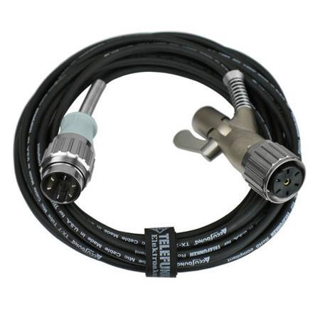 Telefunken M 840H 25' Dual-Shielded Cable with Microphone Stand-Mount  Swivel Connector and Historic Tuchel Connector for U47/U48 Microphones