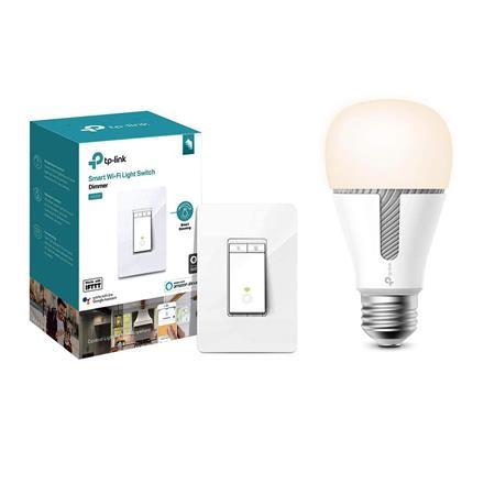 TP-Link KL120 Ksa Smart Wi-Fi Tunable White LED Light Bulb W/TPLink HS220  Switch