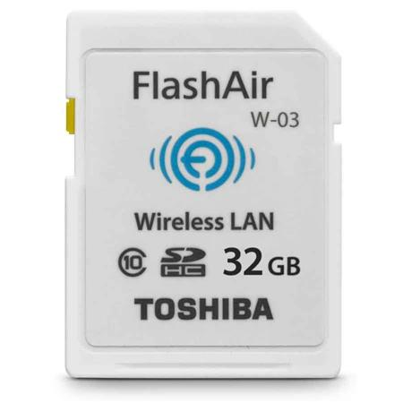 Toshiba 32GB FlashAir III Wireless Class 10 SDHC Memory Card for