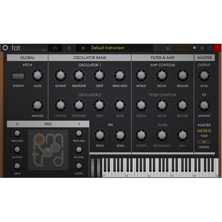 Tracktion RetroMod FAT Contemporary Moog Synthesizer Emulation Software,  Electronic Download