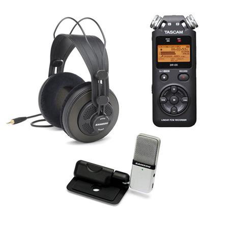 Usb Microphone Vs Digital Recorder : tascam dr 05 portable audio recorder w samson usb mic samson sr850 headphones dr 05 e ~ Hamham.info Haus und Dekorationen