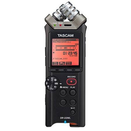 Tascam Dr 22wl 2 Channels Handheld Audio Recorder With Wi Fi Dr 22wl
