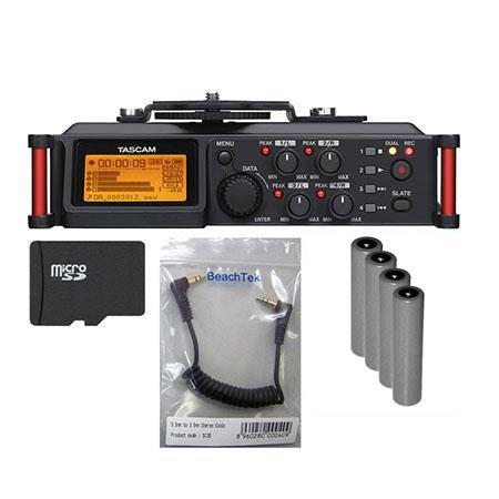 Tascam DR-70D 4-Track Portable Audio Recorder for DSLR Camera