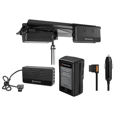 Tether Tools SDAC110 D-Tap to AC Power Supply W/Battery V-Mount/Aero V-Mount