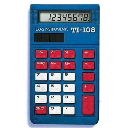 Texas Instruments TI-108 Elementary Calculator 108/BK/D