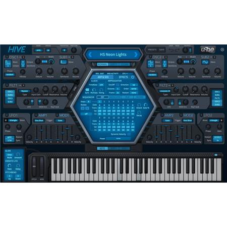 u-He Software Hive Virtual Synthesizer Software, Electronic Download