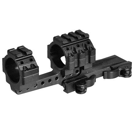 UTG Integral QD Offset Ring Mount, 30mm with 4 Picatinny Slots, 40mm Mount  Clearance