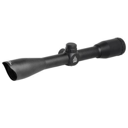 UTG 4x32 Hunter Riflescope, Matte Black Finish with Mil-Dot Reticle, Preset  100 Yd Parallax Setting, Picatinny Rings, 1