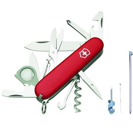 Victorinox Swiss Army 91mm Explorer Plus Pocket Knife Red