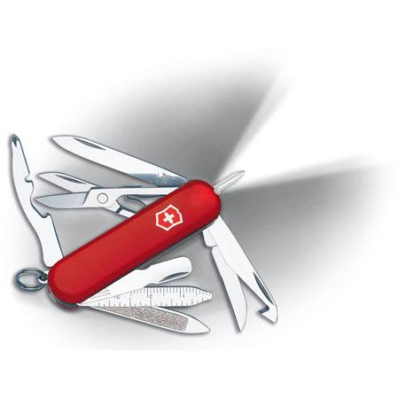 Victorinox Swiss Army Midnite Minichamp Pocket Knife Red