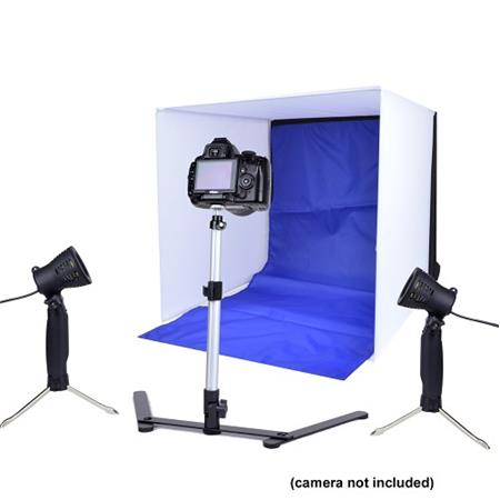 Adorama Photo Studio In-A-Box w/Soft Light Box, Adjustable Stand ...