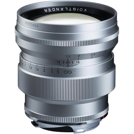 Voigtlander 75mm f/1 5 Nokton Aspherical Lens - VM Leica M Mount Lens -  Silver