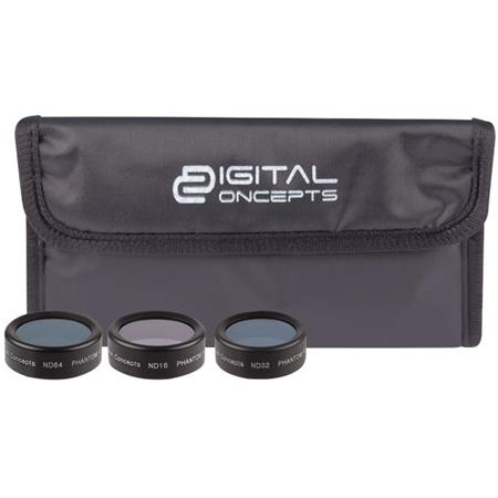 Vivitar Digital Concepts Filter Kit for DJI Phantom 4 Pro Drone, Includes  ND16 Filter, ND32 & ND64 Filter