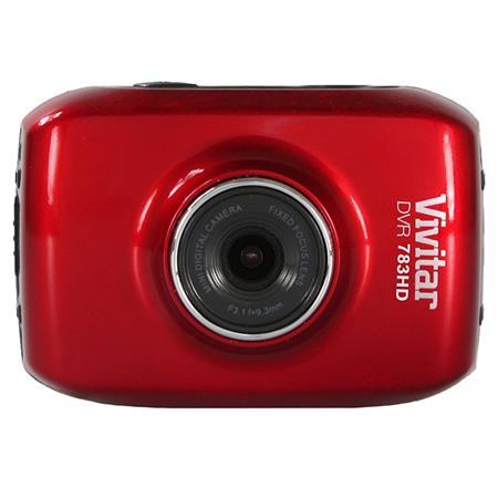 Vivitar DVR 783HD 5.1MP Action Camera, Red