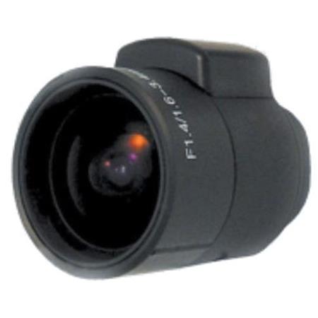 CCTV 1.6-3.4mm CS Manual Iris Fish Eye Varifocal Lens