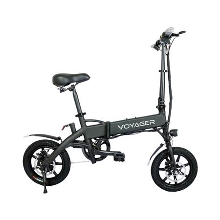 Voyager Flybrid Compact Pedal Assist Electric Bike Silver Bike