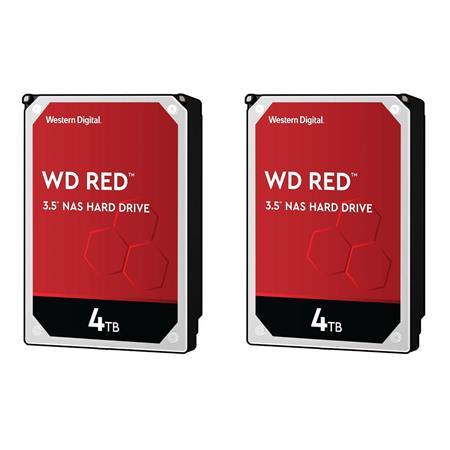 WD 2 Pack Red 4TB 5400 rpm IntelliPower, SATA III 3 5