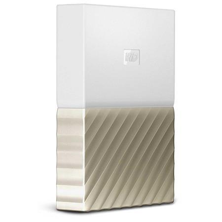 WD My Passport Ultra 3TB USB 3 0 Portable Hard Drive, White Gold (2017)