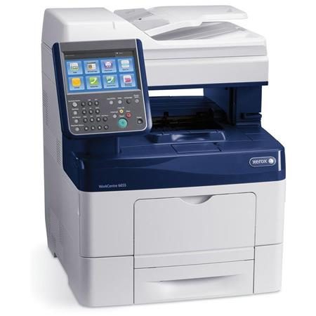 Xerox WorkCentre 6655/X Color Multifunction Laser Printer, 36 ppm  Black/Color, 2400x600 dpi, 700 Sheets Standard Capacity - Print, Copy,  Scan, Fax,