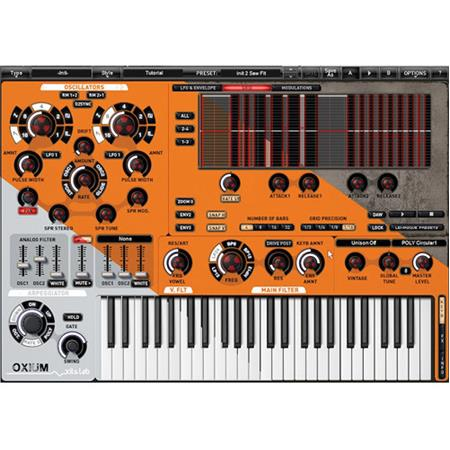 XILS Labs Oxium Virtual Synthesizer Software Plug-In, Electronic Download