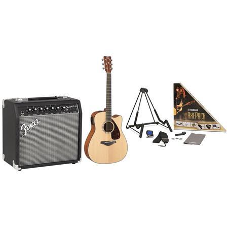 Yamaha FGX700SC 6 String Guitar Bundle