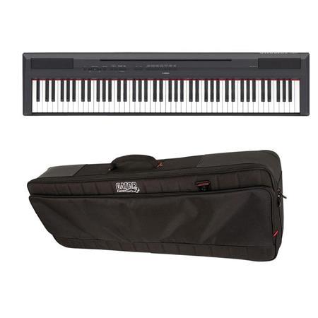 Yamaha P 115 88 Key Weighted Action Digital Piano Black Bundle With Gator Cases Pro Go Ultimate Gig Bag