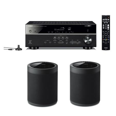 yamaha rx v485 5 1 channel network av receiver with 2x. Black Bedroom Furniture Sets. Home Design Ideas