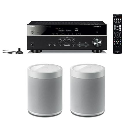 Yamaha RX-V585 7.2-Channel Network AV Receiver w/2x Yamaha WX-021 ...