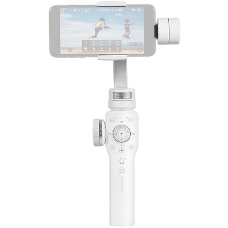 Zhiyun Smooth 4 Multi-Function 3-Axis Handheld Gimbal Stabilizer for  Smartphones, White