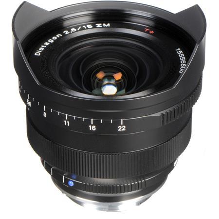 Zeiss 15mm f/2 8 T* ZM Distagon Lens, for Zeiss Ikon & Leica M Mount  Rangefinder Cameras, Black