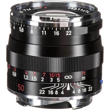 Zeiss 50mm f/2 0 T* Planar, ZM Lens for Zeiss Ikon & Leica M Mount  Rangefinder Cameras, Black